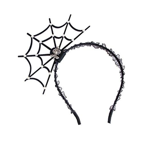 Frcolor Halloween Spinne Stirnband Spinnen Web Haarband Teufel Stirnband für Halloween Party ()