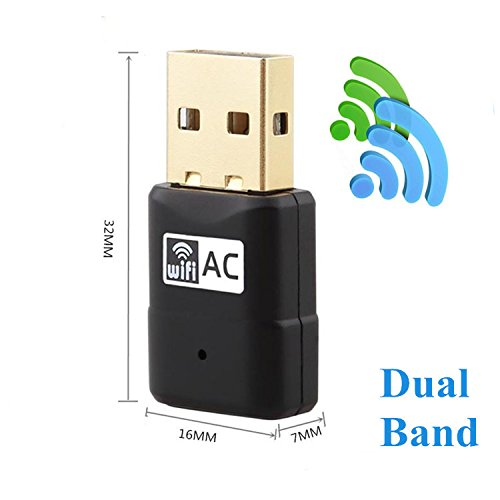 IBAIS AC600Mbps Wlan Adapter Mini USB Wifi Adapter Wireless Netzwerkadapter, Dual Band 2.4G / 5G USB Wifi Dongle für Desktop Pc Laptop