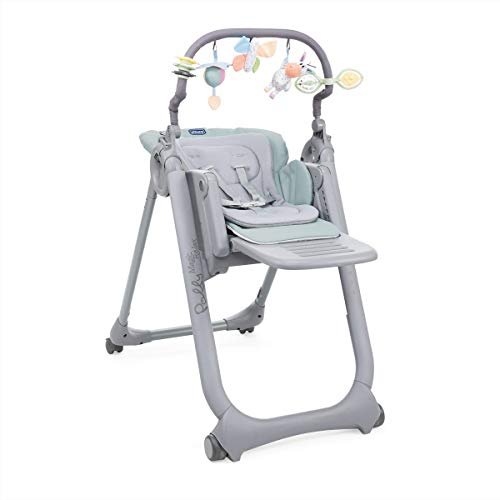 Chicco - Chaise Haute Bébé Polly Magic Relax - 4 Roues - Evolutive - Antiguan Sky