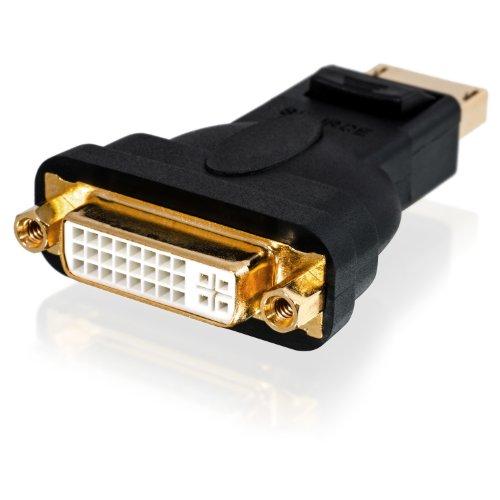CSL-Computer Full HD 1080p Premium DisplayPort DP auf DVI Adapter | Zertifiziert | kompatibel mit Grafikkarten Apple und PC