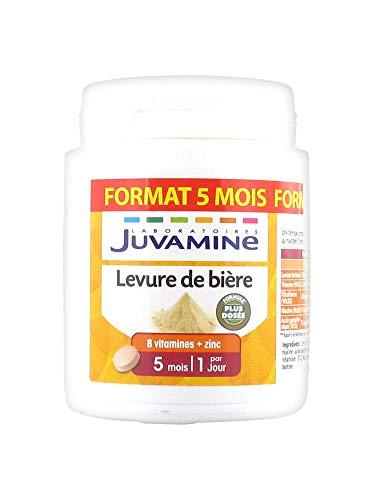 Juvamine JUVAMINE LEVURE DE BIERE - Beauté de la peau, des cheveux et des ongles - 100% naturel, MAXI format 150 comprimés