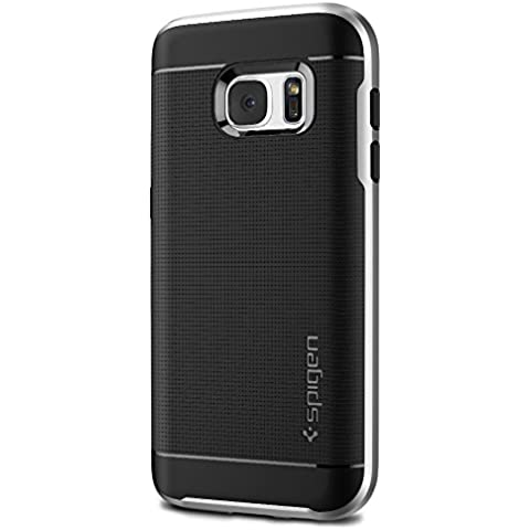 Spigen 555CS20142 - Funda para Samsung Galaxy S7, Negro/Plata