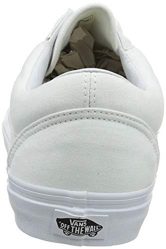 Vans Old Skool, Zapatillas Unisex Adulto, Blanco (True White W00), 38