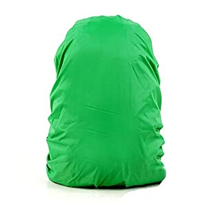 41qV871VQHL. SS300  - Set of 2 [GREEN] Camping/Hiking Twin-side Water-proof Backpack Rain Cover,45-55L