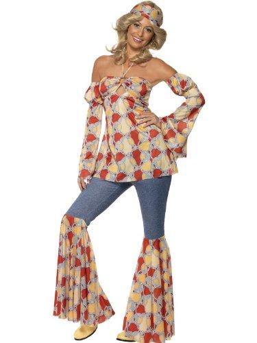 stüm Hippie-Look, Vintage-Stil der 70er Jahre Kleid Kostüm/38 (Kostüme Der 1970er Jahre)