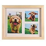 Balacoo Haustier Pfotenabdruck Andenken Kit - Holz Fotorahmen mit Haustier Pfotenabdruck Impressum Kit Memorial Clay Impressum Kit für Hund Katze