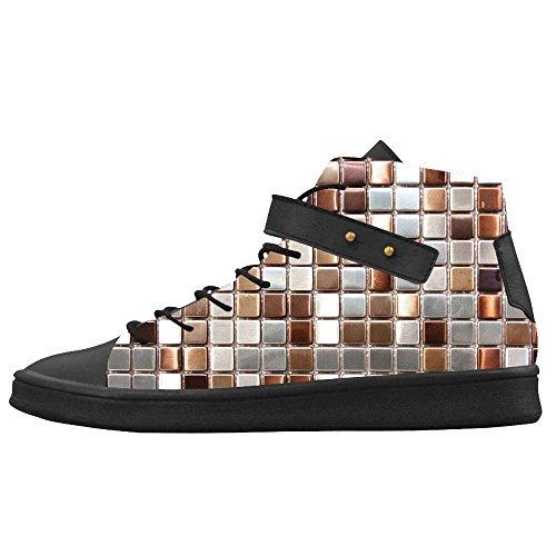Dalliy Glas Mosaik Fliesen Textur Women's Canvas shoes Schuhe Footwear Sneakers shoes (Cinderella Glas Schuhe)