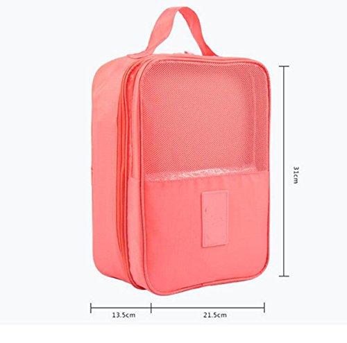 Travel Lagerung Schuh Schuh Drei Paar Schuhe Eintritt Paket Taschen Schutt Aufbewahrungstasche Sortier,Pink Pink