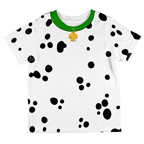 St Für Tag Kinder Shirts Patricks (St Patricks Tag Hund Dalmatiner Kostüm grüner Kragen Shamrock auf der ganzen Kleinkind T Shirt Multi 2)