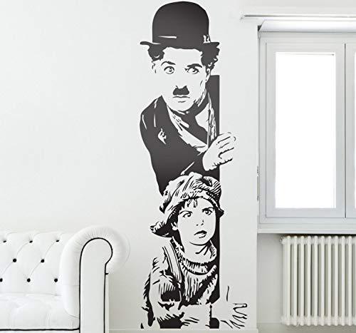 wandaufkleber 3d Wandtattoo Kinderzimmer Charlie Chaplin The Kid Wandaufkleber für Wohnzimmer Schlafzimmer Jungen Schlafzimmer (Kid Charlie The Chaplin)