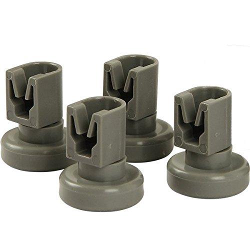 McFilter Lot de 4 roulettes pour panier supérieur de lave-vaisselle AEG, Favorit, Privileg, Zanussi, etc. de la marque McFilter