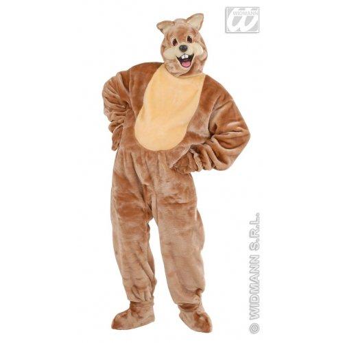 WIDMANN Herren-Kostüm aus Plüsch, Eichhörnchen-Kostüm für Tiere, Jungle Bauernhof (Jungle Halloween Kostüm Ideen)
