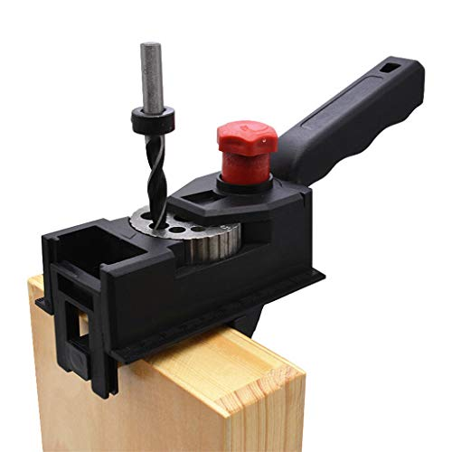 TAOtTAO 38pcs / Kit DIY Holzbearbeitungs-Locator Pocket Hole Cutter Guide Holz Zapfen Set -