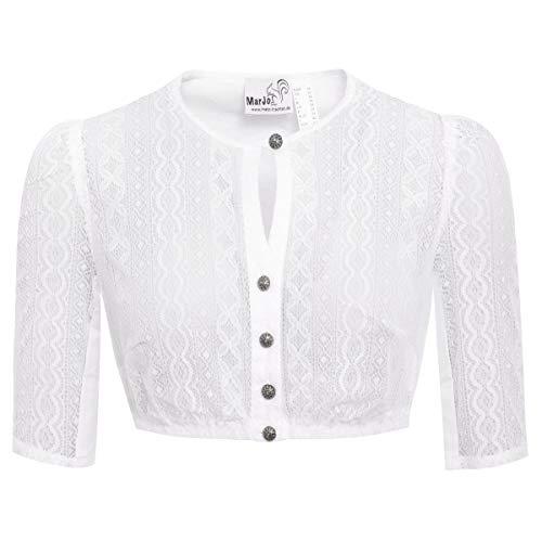 MarJo Trachten Dirndlbluse Bela-Anita in Weiß, Größe:38, Farbe:Weiß