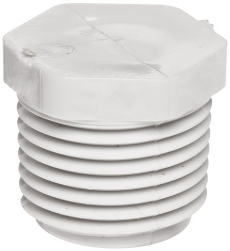 Spears 450 Series PVC Pipe Fitting, Plug, Schedule 40, 1-1/4 NPT Male by Spears Manufacturing - Npt Pipe Plug