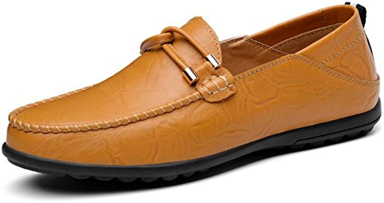 Hongjun-scarpe, Mocassino da uomo di Coloreeee minimalista da uomo in pelle tinta unita, adatto ai mocassini fino... | Di Progettazione Professionale  | Uomini/Donne Scarpa