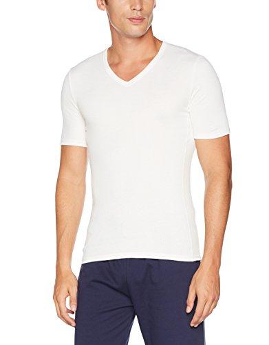 Damart Herren Thermounterwäsche-Oberteil T-Shirt Manches Courtes Thermolactyl Bioactif Weiß (Weiß)