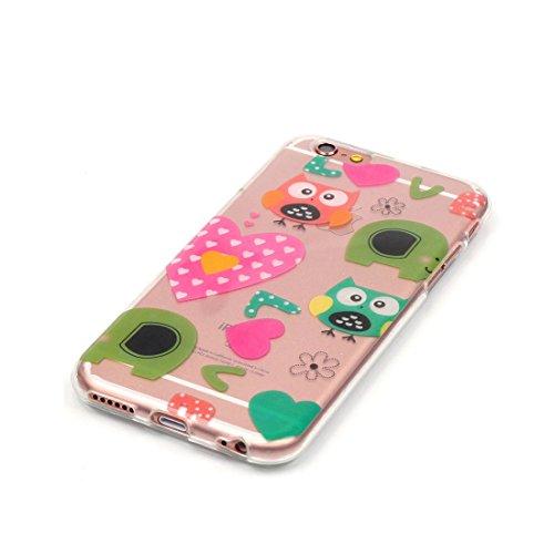 iPhone 6S Custodia,Patate Elfo Custodia in TPU Gel Ultra sottile [Trasparente] Custodia protettiva in gomma flessibile case cover para for iPhone 6 / 6S 4.7inch colour .7