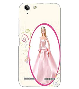 PrintDhaba Cute Barbie Doll D-1079 Back Case Cover for LENOVO A6020a46 (Multi-Coloured)