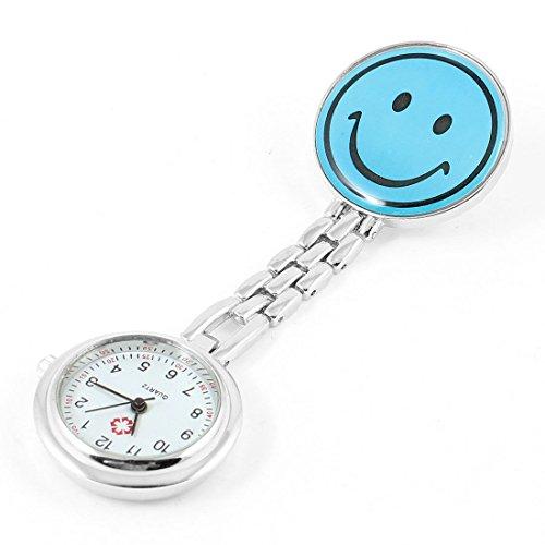 SODIAL(R)Tragbare Krankenschwester Laecheln Pattern Taschenuhr - Blau