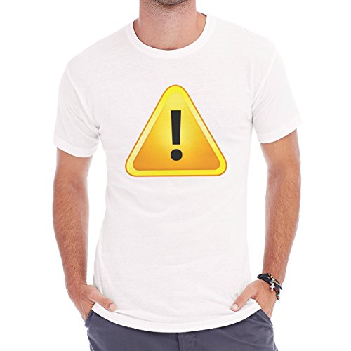 Danger Sign Warning Caution Yellow Herren T-Shirt Weiß