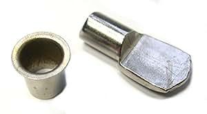 Strauss - Taquet d'étagère acier nickelé - Tige Ø 7 mm - Par 4