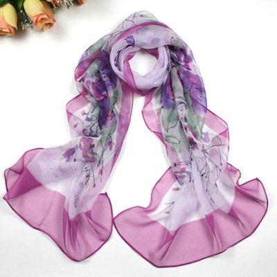 sciarpa protezione solare Lady sciarpa asciugamano Chiffon spiaggia può essere libero di abbinare i vestiti 155 * 60cm opzioni multiple di colore , 11
