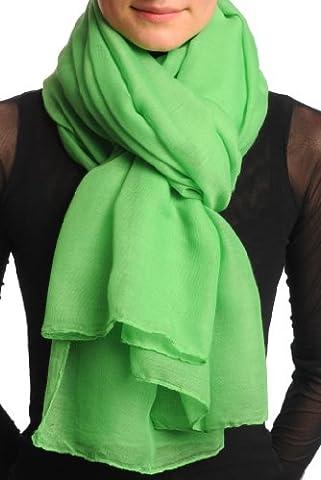 Plain Kelly Green Unisex Scarf & Beach Sarong - Green Designer Scarf
