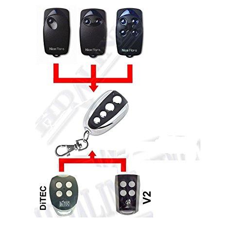 HD-LINE Set 5x Ditec, V2, Nice Flor-S Garagentor 433MHz Rolling Code, Fernbedienung Garage/Gate (Code V2)