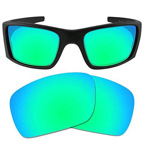 sunglasses restorer Kompatibel Ersatzgläser für Oakley Fuel Cell, Polarisierte Sapphire Green Linsen