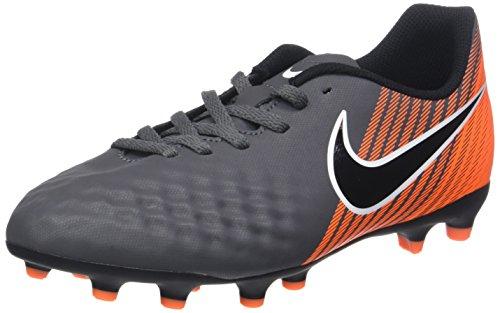 Nike Unisex-Kinder Jr. Magista Obra II Club FG Fußballschuhe, Grau (Dark Greyblacktotal Orangew 080), 38 EU (Nike Amplify)