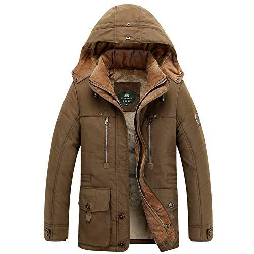 Beonzale Männer Herbst Winter Camouflage Verdickung Mantel Outwear Top Bluse Plus Size Reine Reißverschluss Kapuzenjacke Gepolsterte Softshell Jacke Top Bluse