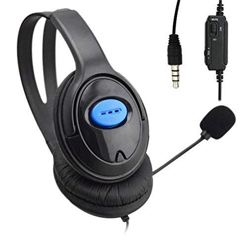 Morza di ricambio per ps4 / pc computer 3,5 millimetri large nero microfono wired gioco cuffie gaming headset
