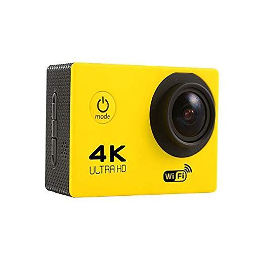 ZUEN Sport-Kamera, Drahtlose WiFi-Mini-HD 4K 140 ° Weitwinkel-Kamera Im Freien Wasserdicht, Geeignet Für Diejenigen, Die Outdoor-Sportarten Aufzeichnen Möchten,Gelb