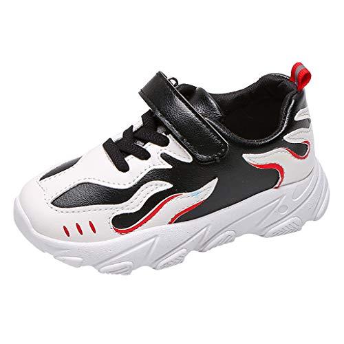 HDUFGJ Sneaker Unisex - Kinder Freizeitschuhe Atmungsaktiv rutschfest Laufschuhe Freizeitschuhe Leichtgewicht Faule Schuhe Turnschuhe Fitnessschuhe Flache Schuhe33 EU(Schwarz)