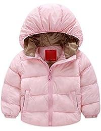 Highdas Enfant Enfants Unisexe hiver chaud Hooded Padded Jacket Outwear Coat 90-130