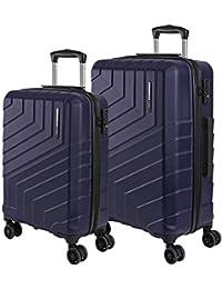 Maleta Trolley Rigida - Equipaje de Viaje Ligero ABS con Cerradura TSA y 4 Ruedas Dobles