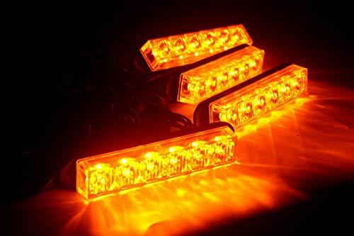 24 W 4 Lightheads Combo Kit d'urgence Danger avertissement LED strobe lumières clignotantes pour grille de voiture camion Sécurité