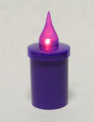 Grabkerze Grablichter Kreuz Ersatzkerze LED AA Lila - licht Lila KW-MP-988