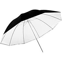 Neewer 149,9cm/150centimetres Amovible Photographie éclairage Umbrella-Blanc Convertible Umbrella avec Housse Amovible Noir et réfléchissant Argent Dos