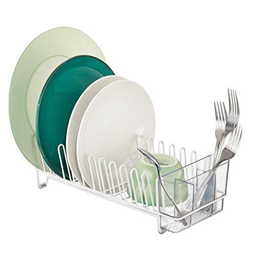 mDesign Abtropfgestell aus Metall – Abtropfablage für die Küchentheke, Arbeitsplatte oder Spüle...