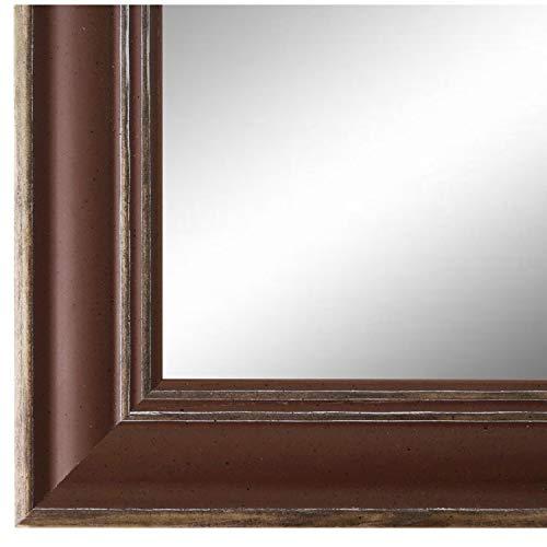 Online Galerie Bingold Spiegel Wandspiegel Braun 50 x 60 cm - Modern, Retro, Vintage - Alle Größen - Massiv - Holz - AM - Latina