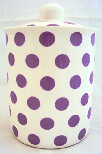 Violet Boîte à pois en porcelaine fine Lavande pot de rangement décorée à la main au Royaume-Uni Livraison gratuite au Royaume-Uni