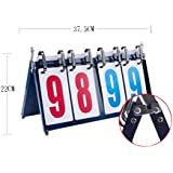 DRAGON SONIC Sports Competition 4-digital Portable Table Top Scoreboard/Score Flipper 0-99A