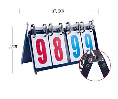 Black Temptation Sport-Wettbewerb 4-digital Portable Tischplatte Scoreboard/Score Flipper 0-99, A