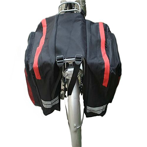 RUIX Fahrradtasche Fahrrad Kamel Mountain Bike Rack Tasche,Red