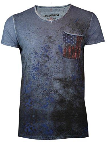 trueprodigy Casual Herren Marken T-Shirt mit Brusttasche, Oberteil cool und  stylisch mit V