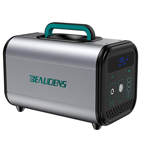 BEAUDENS Tragbarer Akku Generator 384Wh(3.2V/120000mAh), sichere LiFePO4-Batterie, 300W reines Sinuswellen Power Station, AC/DC/USB-C/Autoladegerät-Ausgänge für CPAP Camping Emergency Outdoor