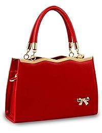 LuckES bolsos elegantes de cuero y a la moda para dama Las mujeres flor impresión bolsos bolsa de hombro bolsa dulce patrón Messenger Bag