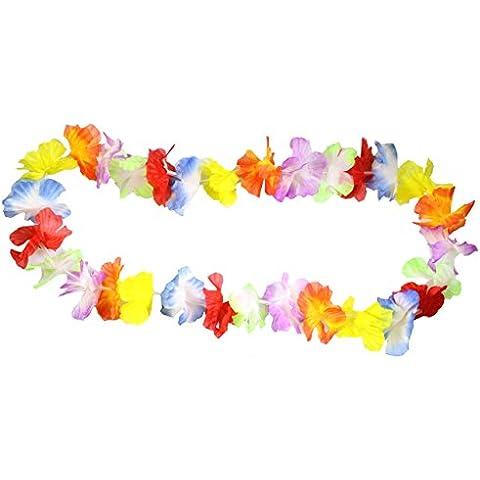 Paquete de 25 guirnaldas hawaianas de flores para usar como collares por Kurtzy TM